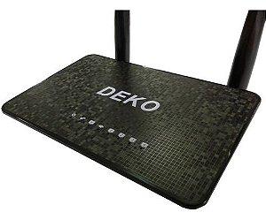 Roteador Deko 300mbps Wireless 2 Antenas Wifi 4 Lan 1 Wan Bivolt