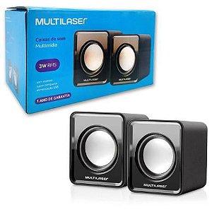 Caixa de Som Multilaser SP144 Preta