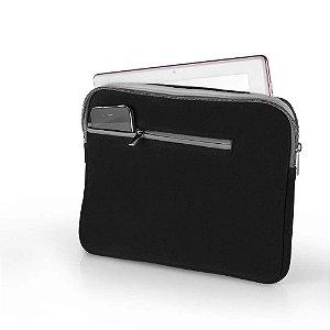 Case Para Notebook  Multilaser Até 15.6 Pol Preto E Cinza