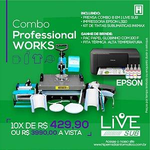 Kit Combo Prensa LiveSUB 08 em 01 + Impressora Epson 3110 Sublimática + Brinde