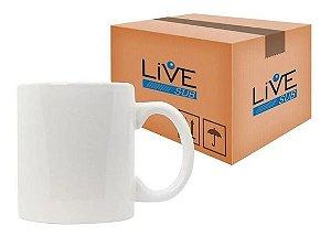 Caneca Porcelana Branca Importada LiveSub 325ml