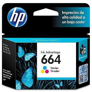 Cartucho HP 664 Colorido Original