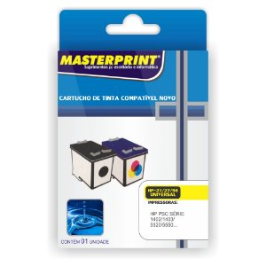 Cartucho Masterprint 21 27 56 Preto