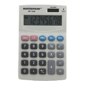 Calculadora Masterprint Mp1000 8 Dígitos