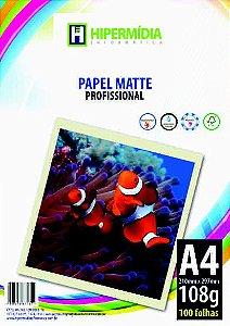 PAPEL FOTOGRÁFICO A4 108GR PCT 100 FOLHAS
