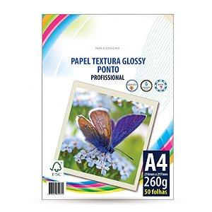 PAPEL FOTOGRÁFICO A4 PONTO 260G COM 50 FOLHAS