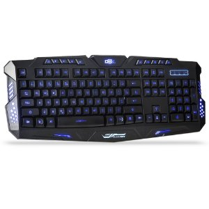 Teclado Dex Gamer Tricolor Backlight
