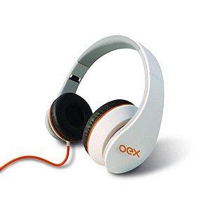Headset Sense Preto OEX Branco