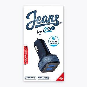 Carregador I2go Veicular Jeans Usb Duplo