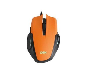 Mouse OEX Gamer Combo Clash 3200DPI e Mousepad