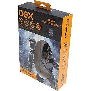 Mouse OEX Gamer  2400DPI e Mousepad