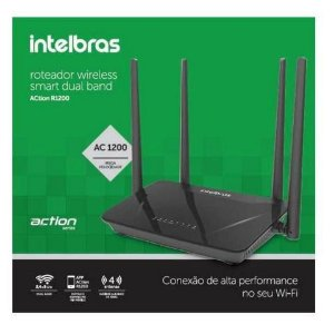 Roteador Intelbras ACtion R1200 Dual Band 4 Antenas
