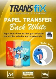 Papel Transfer Laser Back White Fundo Branco