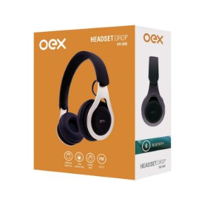 FONE BLUETOOTH  OEX  DROP PRETO HS306