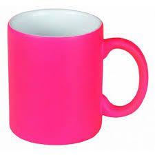 Caneca Neon Rosa fosca Florescente p/ Sublimação 325ml