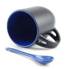 Caneca c/ Colher Mágica Azul