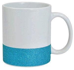 Caneca Glitter Base Azul