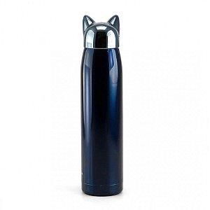 Garrafa Térmica de Inox Crush Azul 320ml