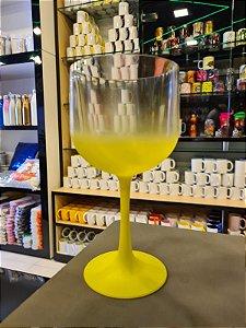 Taça Gin Degradê Cristal com Amarelo