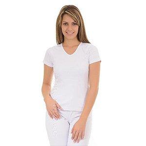Camisa Baby Look Poliéster Branca TAM (M)