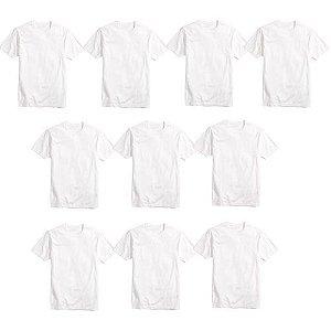 Camisa Básica Poliéster Branca TAM (P) 10UND