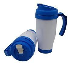 Caneca Semi Térmica de Polímero Azul