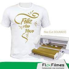 Filme de Recorte Dourado Flexcut Flexfilmes 1m x 0,50