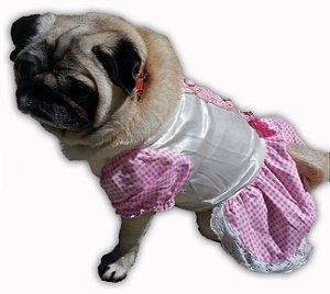 Vestido Para Cachorro - Rosa