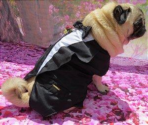 Roupa de Cachorro Casamento Fraque Terninho
