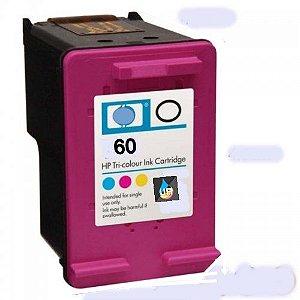 RECARGA DE  CARTUCHO HP 60XL COLOR  12ml , F4480 ,F4580 F4280 ,D1660