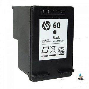RECARGA DE  CARTUCHO HP 60 BLACK  9ml , F4480 ,F4580 F4280 ,D1660