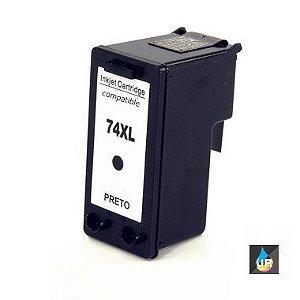 Cartucho de Tinta Compatível com 25ML HP 74XL,c4280,c4200.