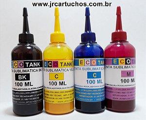 REFIL DE TINTA  SUBLIMATICA EPSON  100ML  ,ECOTANQUE ,TANQUE DE TINTA L 385,L395,L465, L355