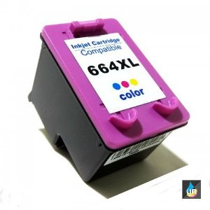 CARTUCHO COMPATÍVEL HP 664XL COLORIDO 12ml , 2676 ,2136 ,3636 ,3836 ,3536, 4676