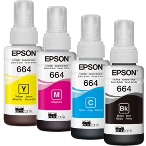 REFIL DE TINTAS  EPSON  ORIGINAL  70ML T 664 ,L355 ,L395, L455, L255, TANQUE DE TINTA ,ECOTANQUE