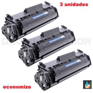 kit 3 un toner HP  2612,12A,1010,1020,3030 ,M1005