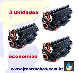 kit 3 toner HP compativel CE283A ,83A, M125,M127,M201