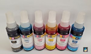 Refil de tinta  Epson Compatível  Ecotank  L800,l805,l1800 Preto e Color