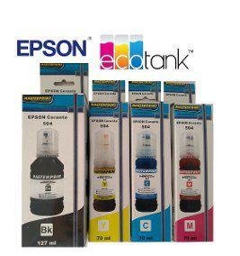 REFIL DE TINTAS  EPSON MASTERPRINT  , T 504 ,para uso em Epson L 4150,4160,6161,6171,6191