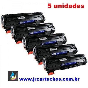 Kit 5 Toner compatível  HP  CE285A, 85A ,285a P 1102, HP P 1102W, HP M 1130, HP M 1132, HP M 1210, HP M 1212, HP M 1217