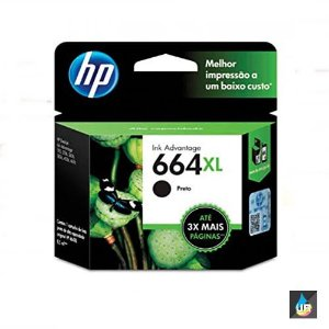 Cartucho HP 664XL preto Original (F6V31AB) Para HP Deskjet 2136, 2676, 3776, 5076, 5276 CX 1 UN