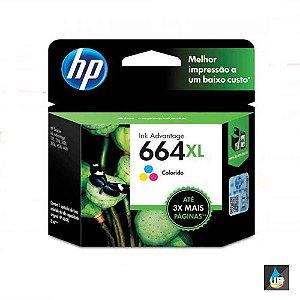 Cartucho HP 664XL color original (F6V30AB) Para HP Deskjet 2136, 2676, 3776, 5076, 5276 CX 1 UN