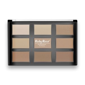 Paleta de Pó Facial Ruby Rose (HB-7208)