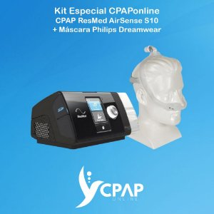 Kit CPAP ResMed S10 Air Sense + Máscara Nasal Philips Dreamwear
