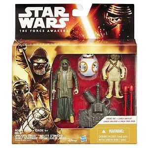 "Star Wars The Force Awakens 3.75"" - BB-8, Unkar's Thug & Jakku Scavanger Action Figures (2-Pack)"