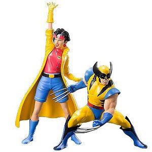 Marvel Comics ArtFX+ 1/10 Statue - X-Men '92 Wolverine and Jubilee 2-Pack (pré-venda)