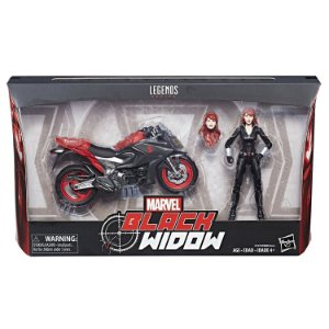 Marvel Legends 6-inch Deluxe Ultimate Riders Black Widow with Motorcycle