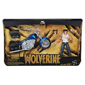 Boneco articulado Marvel Legends 6-inch Deluxe Ultimate Riders Wolverine with Motorcycle