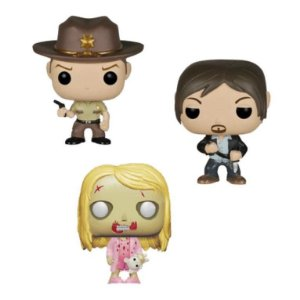Funko POP Pocket TWD Daryl, Rick & Walker