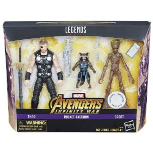 Marvel Legends 6-inch Thor Rocket and Groot 3-pack